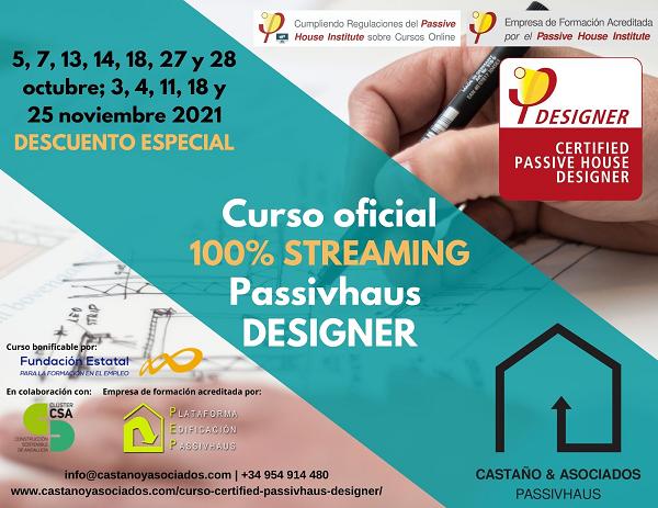 Curso oficial Passivhaus Designer online 100% streaming en directo - CASTAÑO&ASOCIADOS PASSIVHAUS